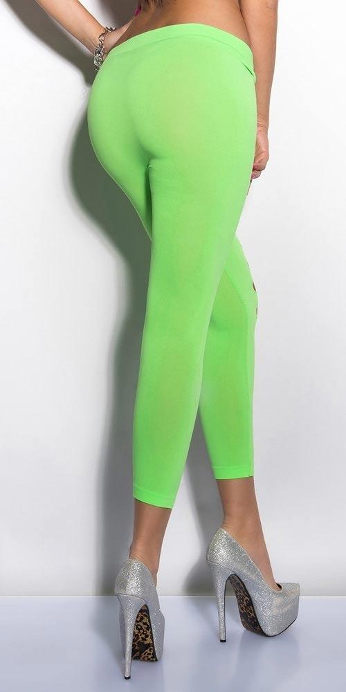 Neonově zelené dámské legíny
