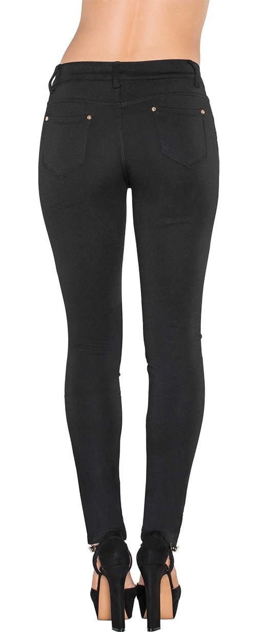 Černé slim dámské džíny