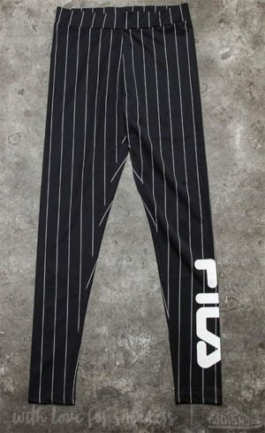 FILA Flex Leggings Black Pinstripe