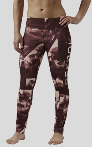 Legíny Reebok WOR SMOKE PRINT TIGHT