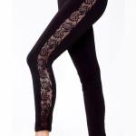 Černé dámské legíny Violana Getry s elastickou krajkou