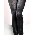 Černé dlouhé legíny džínového vzhledu - džegíny