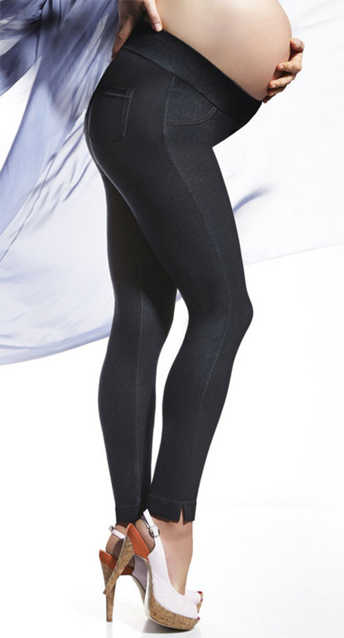 Těhotenské kalhotové legíny BAS BLEU Maia