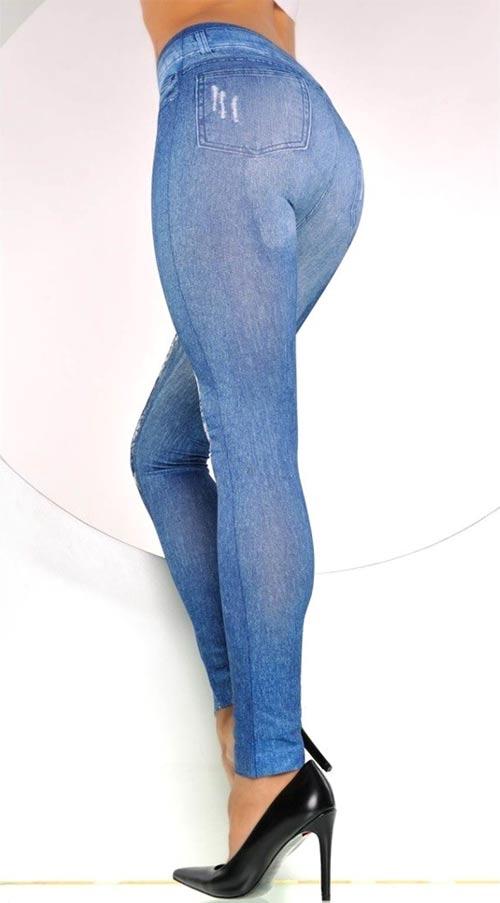 Kalhotové jeansové dámské legíny
