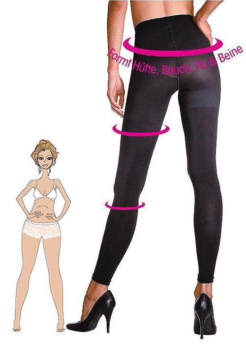 Legíny formující zadek, boky a stehna