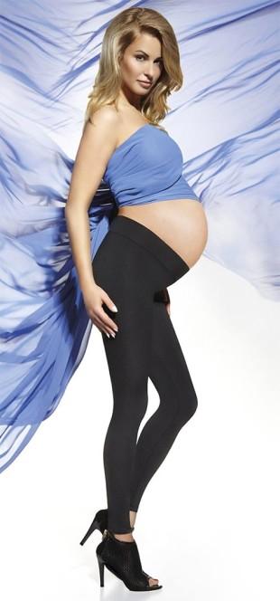 Těhotenské zimní zateplené legíny Suzy