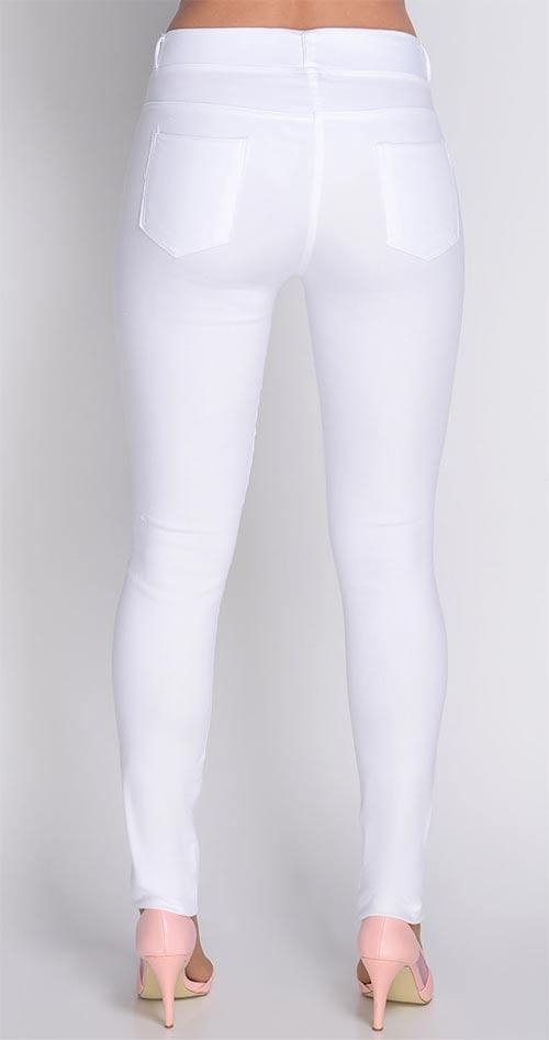 Bílé kalhotové legíny