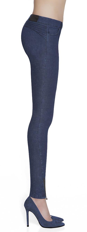 Modré kalhotové deninové legíny