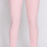 Růžové strečové legíny - dokonalá imitace kalhot