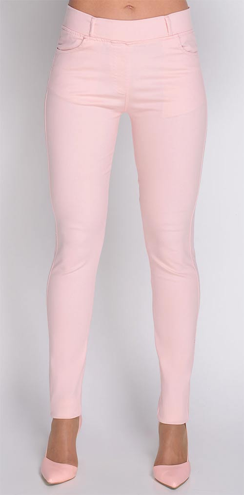 Růžové strečové legíny - dokonalá imitace kalhot d91e3b3f97