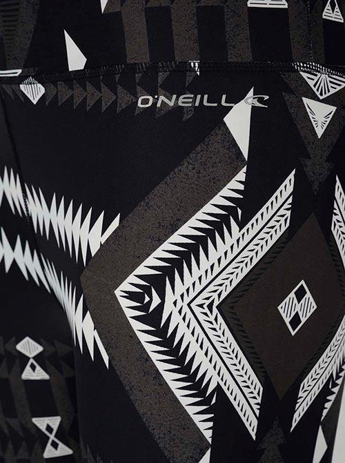 Šedo-černé dámské legíny s krémovým vzorem O'Neill Surflegging