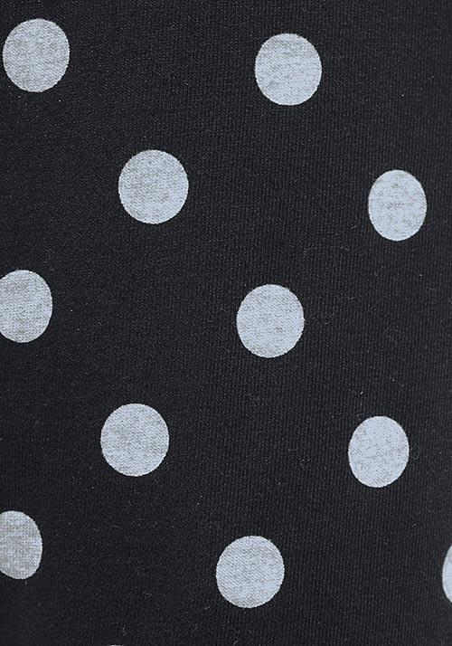 Černobílé puntíkované legíny