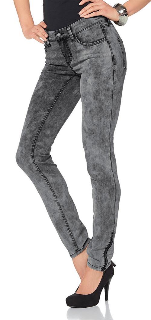 Riflové dámské kalhotové legíny
