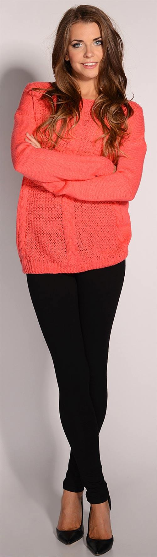 Zimní kalhotové legíny ke svetru