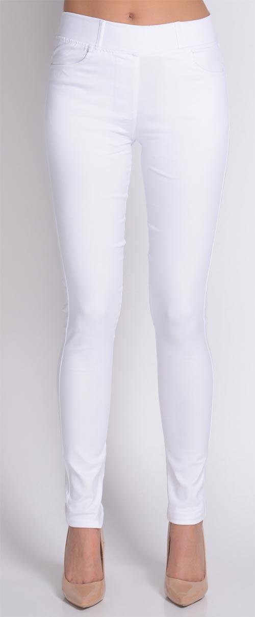 Bílé kalhotové legíny Avaro b791b2e4a0