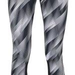 Bílo-černé dámské vzorované funkční legíny Nike