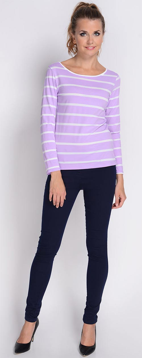 Modré kalhotové legíny k tričku ... a56ac42d5b