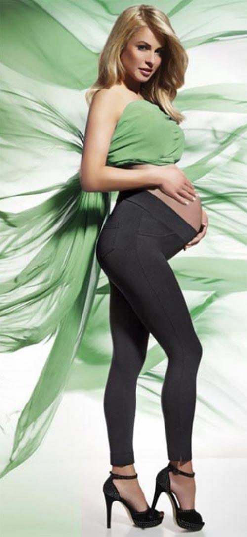 Pohodlné těhotenské legíny vhodné i do chladného počasí