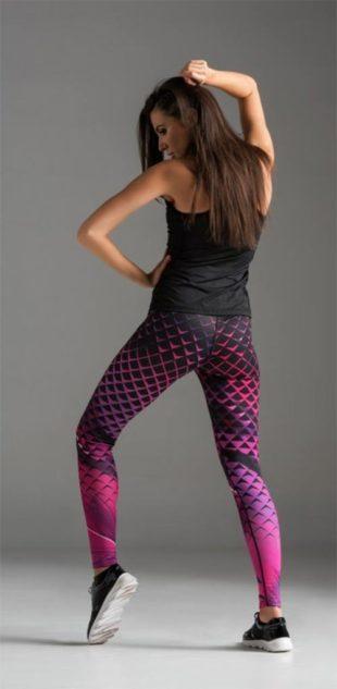 Sportovní legíny speciálně navržené pro fitness a běh