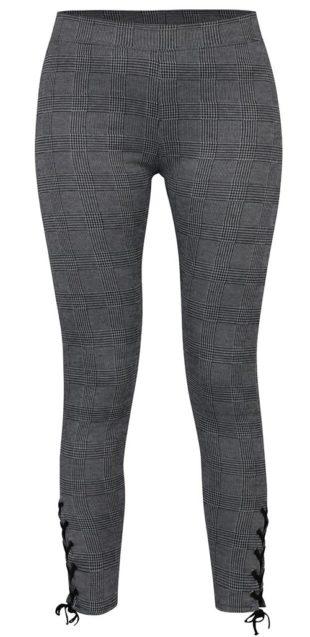 Černo-šedé legíny se šněrováním na nohavicích