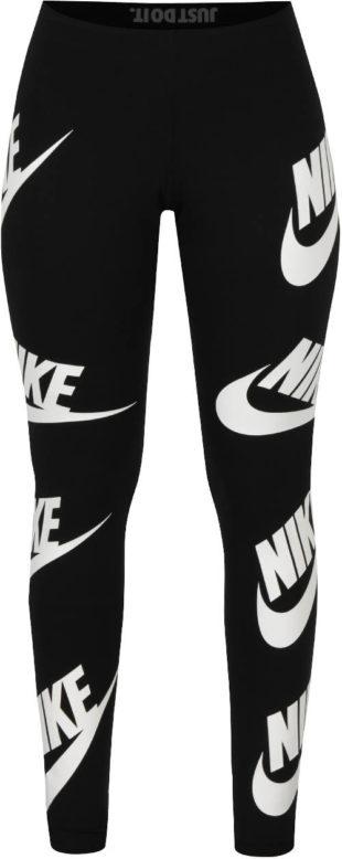 Černé sportovní legíny s potiskem Nike