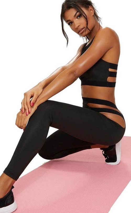 Sexy sportovní legíny s průstřihy