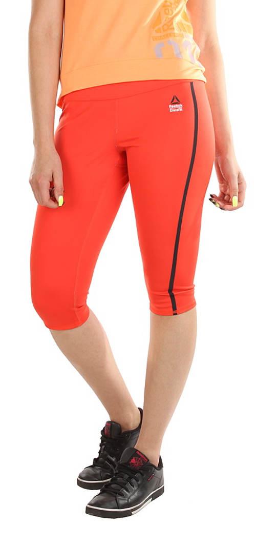 Krátké oranžové sportovní legíny