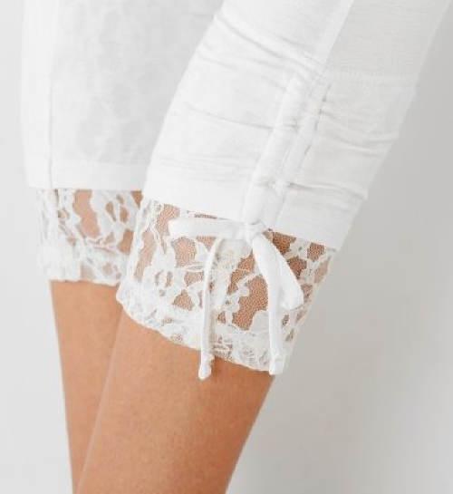 Krajkové zakončení nohavic