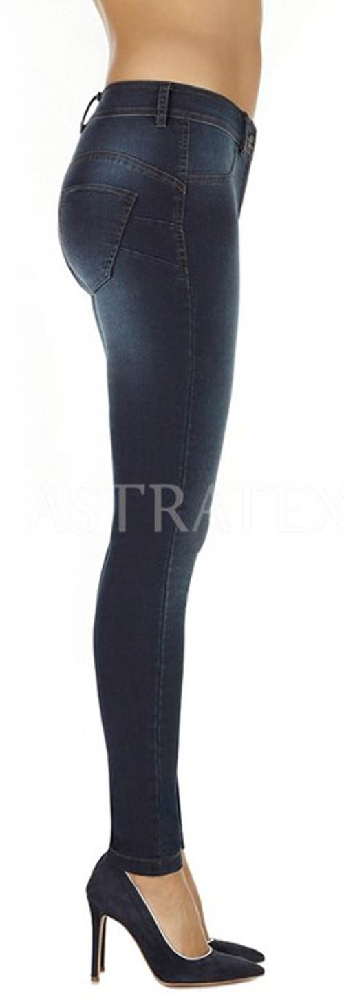 Riflové legínové kalhoty