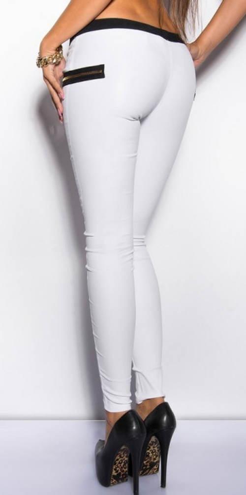 Bílé sexy legíny