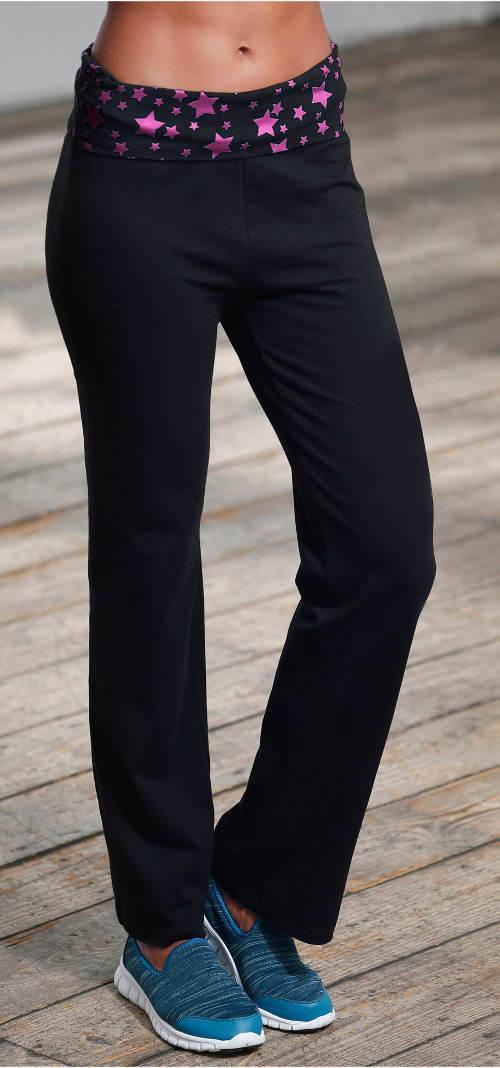 Dámské sportovní kalhoty s vysokým pasem