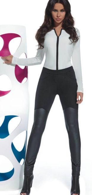Legíny s koženými nohavicemi