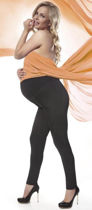 Těhotenské legíny Bas Bleu s vyvýšeným pasem