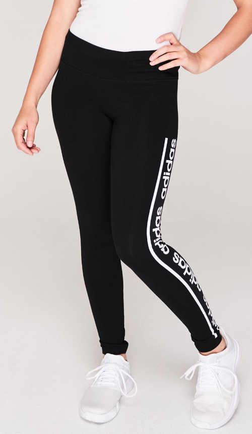 Černé fitness legíny adidas