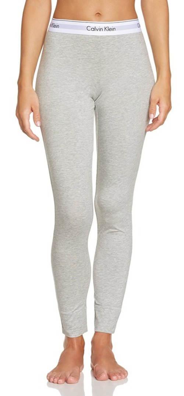 Jednobarevné šedé legíny Calvin Klein