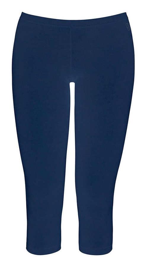 Krátké modré bavlněné legíny