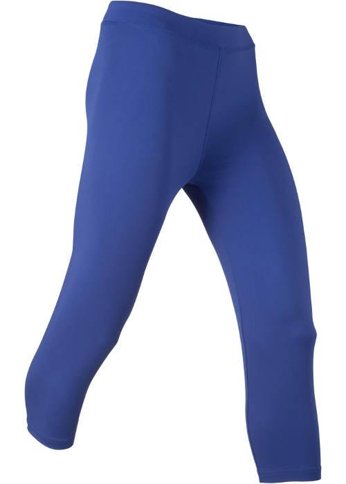 Modré dámské capri legíny