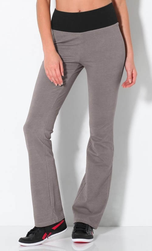Šedé sportovní dámské kalhoty