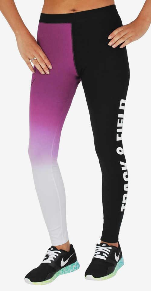 Barevné legíny na cvičení Nike