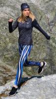 Sportovní dámské legíny s trendy potiskem