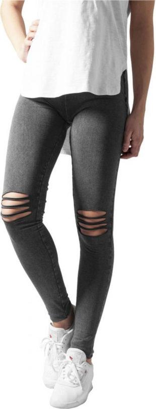 Seprané džegíny s děrovanými koleny