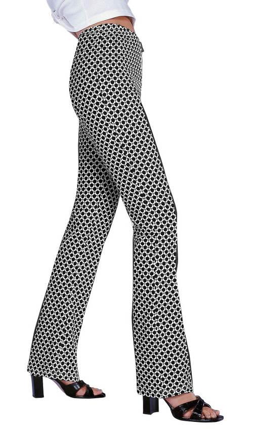 Společenské legíny s rozšiřenými nohavicemi