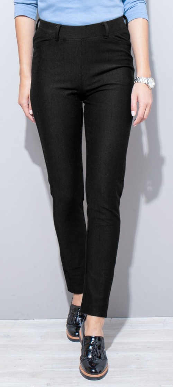 Černé dámské legínové kalhoty