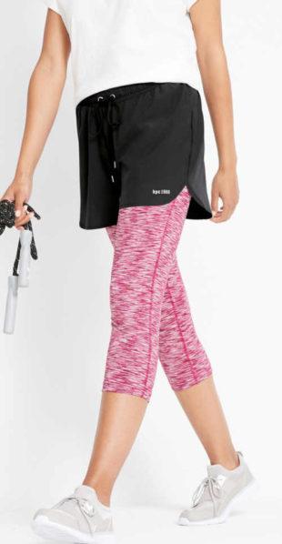 Funkční capri sportovní legíny se sukní