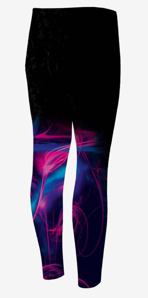 Legíny na cvičení s barevnými nohavicemi