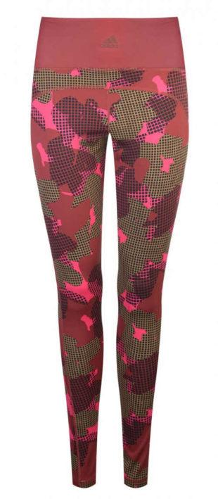 Růžové maskáčové sportovní leginy Nike