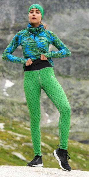 Zelené sportovní legíny Green Galaxy