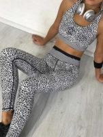Leopardí sportovní oblečení do fitka