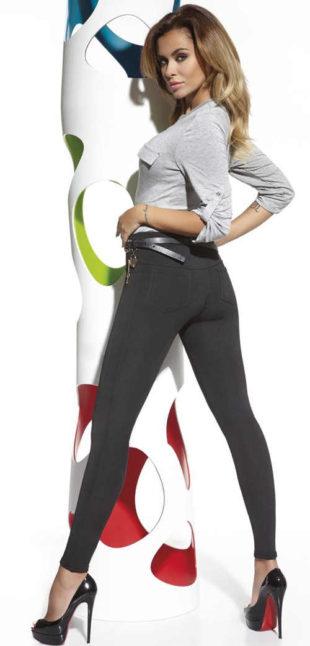Jednoduché černé kalhotové legíny Bas Bleu Marika