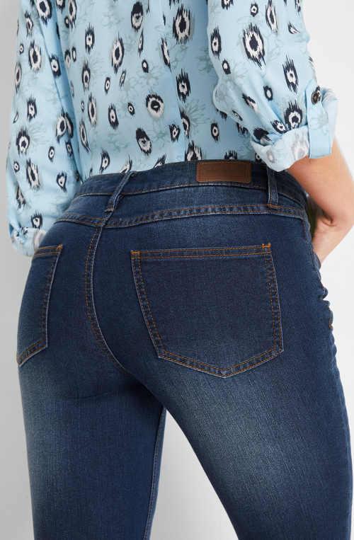Elastické dámské džínové kalhoty